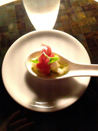 "Amuse Bouche - ""Prosciutto and Melon"""