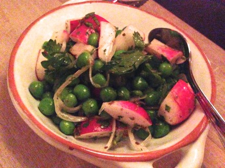 Spring Pea and Radishes